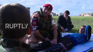 Syria  Russian military police provide civilians self defence and medical training