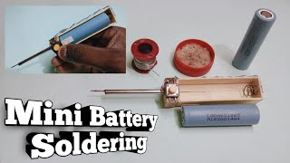 Soldering | DIY mini Battery Soldering iron | How to make Simple Soldering Iron