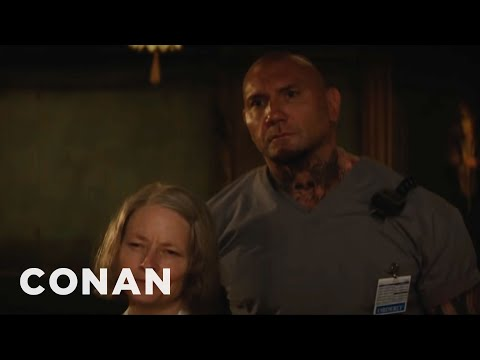 Jodie Foster: Dave Bautista Has To Eat All The Time   CONAN on TBS