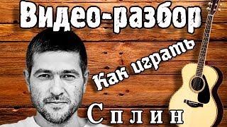 Разбор Сплин - Романс / Песни под гитару Без БАРРЭ / Как играть на гитаре Романс Сплин