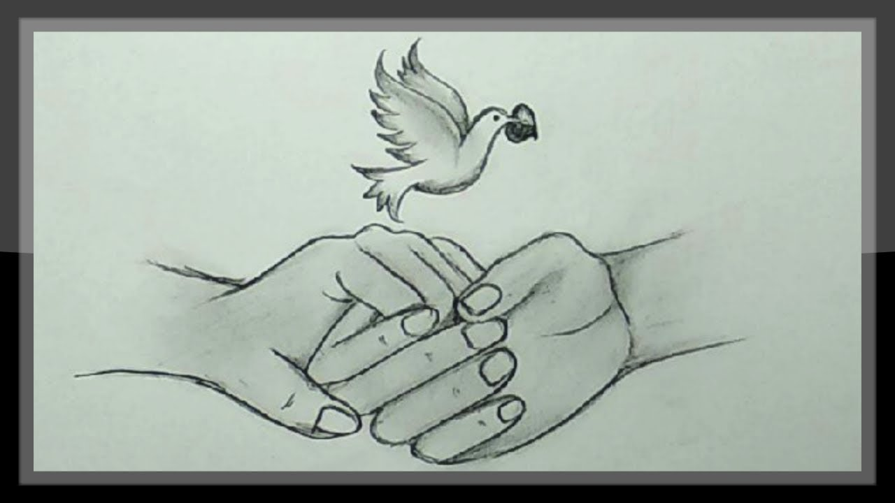 Cute drawings pencil drawing a beautiful valentine picture