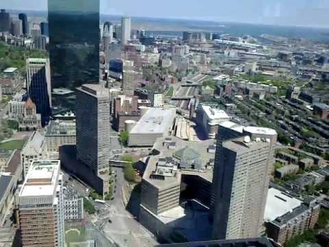 Вид Бостона с 50 этажа Prudential Tower