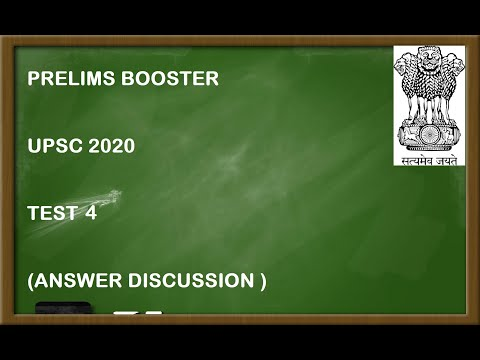 TEST 4 || PRELIMS BOOSTER || MOCK TEST SERIES  || MCQ || UPSC 2020 || LET'S CRACK UPSC IAS