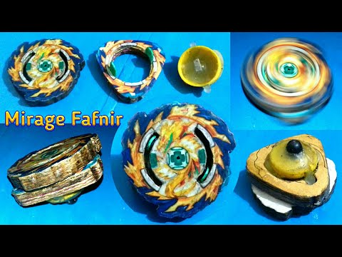 How to make《🔥Mirage Fafnir🔥》||😰 Burst able cardboard beyblade with ( absorb disc ) 👈||👉 Sonic Ideas.