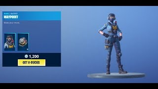 *NEW* WAYPOINT SKIN + SIGNAL HUB BACKBLING in Fortnite Battle Royale | Daily Fortnite Shop Update