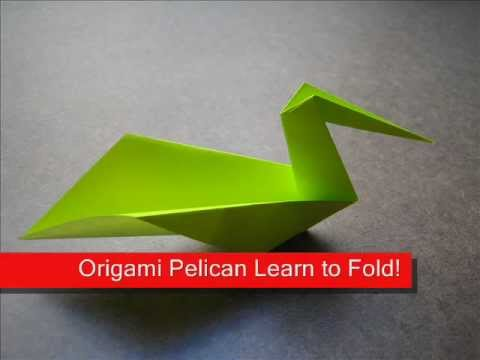 Origami Instructions Origami Pelican Youtube