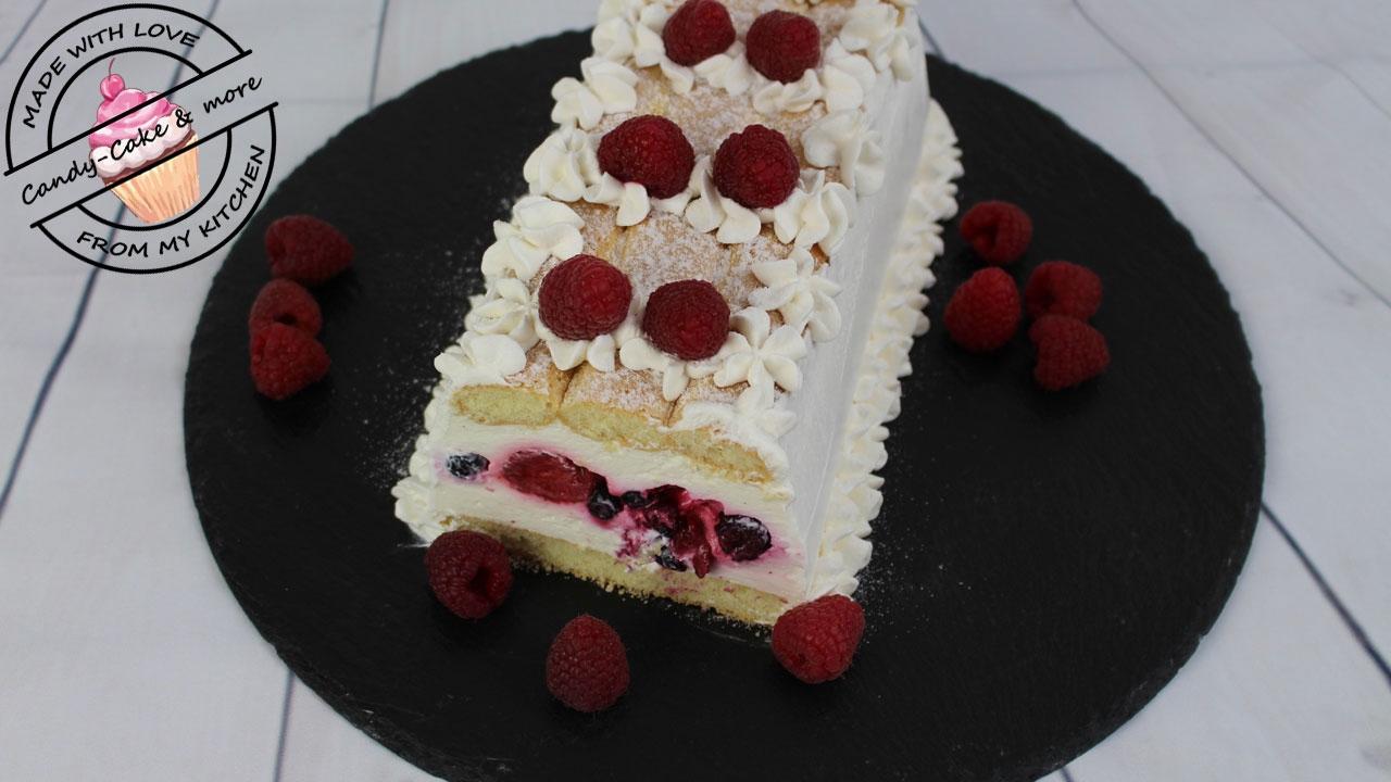 Loffelbiskuit Kuchen Mit Beeren No Bake I Ohne Backen I Kuhlschranktorte Sommertorte