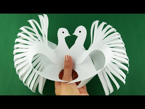 How to make a paper toy bird dove very easy. Diy