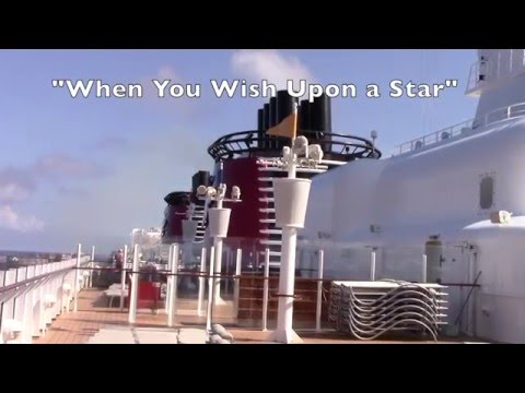 Disney Fantasy Ship Sounds Horns at Sea w/ FROZEN and Classic Disney Tunes