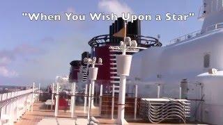 Disney Fantasy Ship Sounds Horns at Sea w FROZEN and Classic Disney Tunes