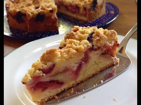 Pflaumen Streuselkuchen Backen Rezept Plum Crumble Cake Recipe