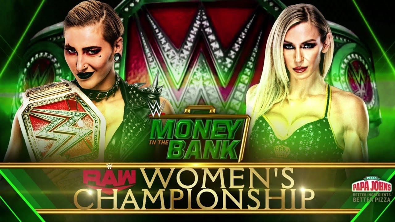WWE Money In The Bank 2021 Rhea Ripley Vs Charlotte Flair Official Match  Card - YouTube