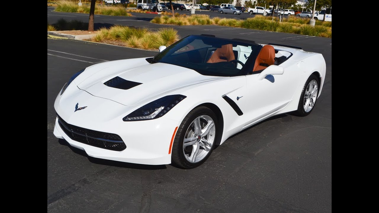 Sold 2016 C7 Chevrolet Corvette Convertible 2lt Arctic White For By Mike