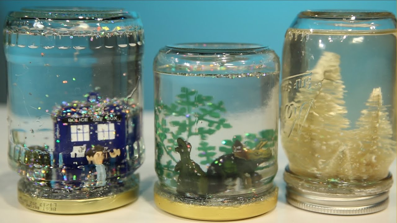 Mason Jar Snow Globe Diy Youtube