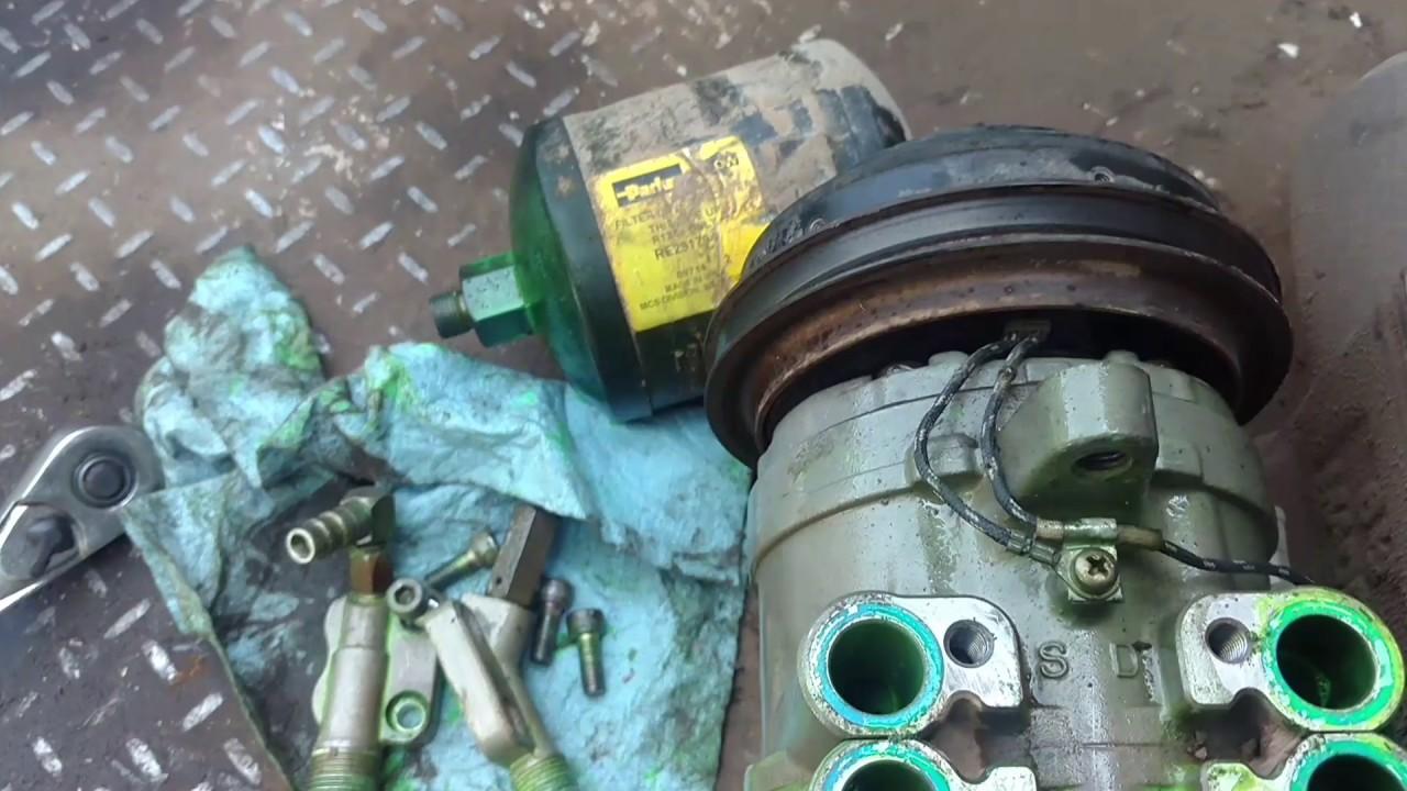 4850 John Deere a/c compressor replacement. - YouTube
