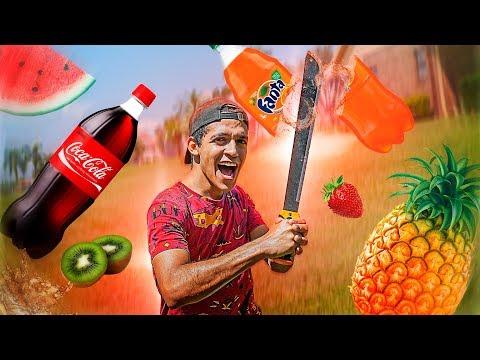 FRUIT NINJA COM UMA MACHETE GIGANTE !!!