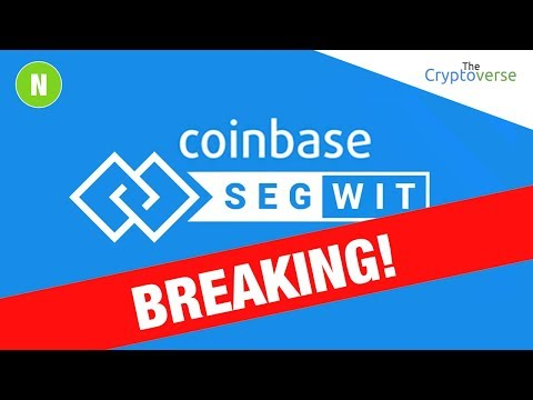 BREAKING: Coinbase Officially Launches SegWit Support For Bitcoin Transactions