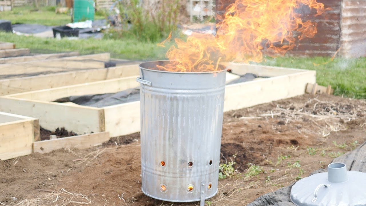 Large Square Incinerator Garden Burner Metal Steel Rubbish Bin Fire Pit Bonfire