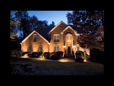 Outdoor home lighting design decorating ideas - YouTube