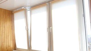 видео рулонные шторы на окна