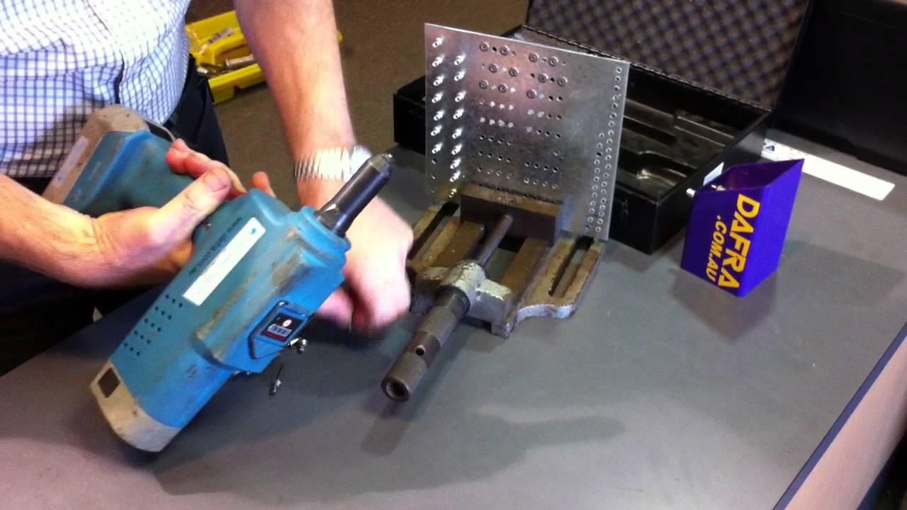 Dafra New Goebel G01 Cordless Rivet Tool Installing 3 16
