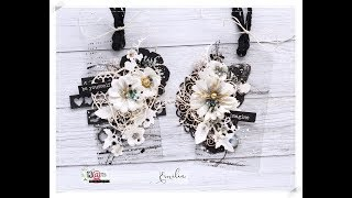 Romantic Transparent Tags Step by step * Emilia Sieradzan *