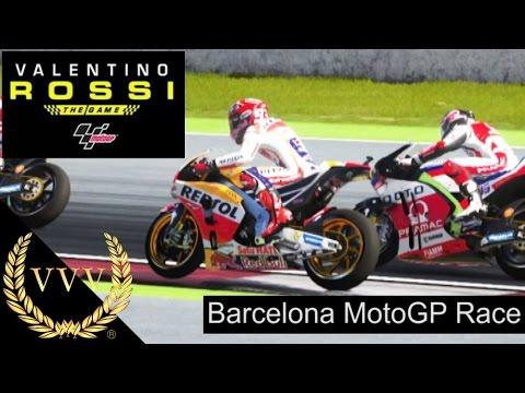 Valentino Rossi The Game Motogp 2016 Barcelona Race Youtube