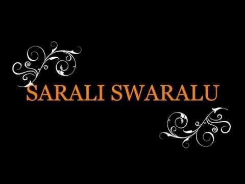 Sarali Swaralu Part 1