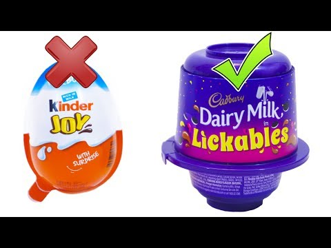 KINDER JOY vs LICKABLES