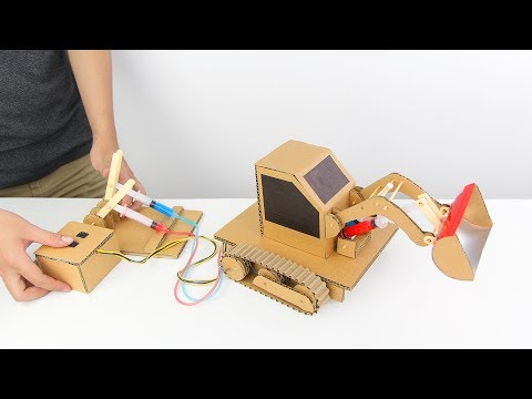 Thumbnail: How to Make Hydraulic Powered Bulldozer from Cardboard