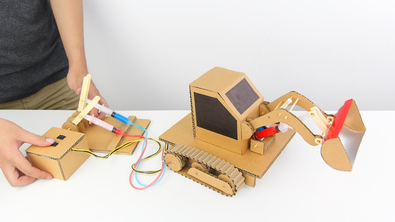 Cardboard Hydraulic Ar : How to make hydraulic powered bulldozer from cardboard