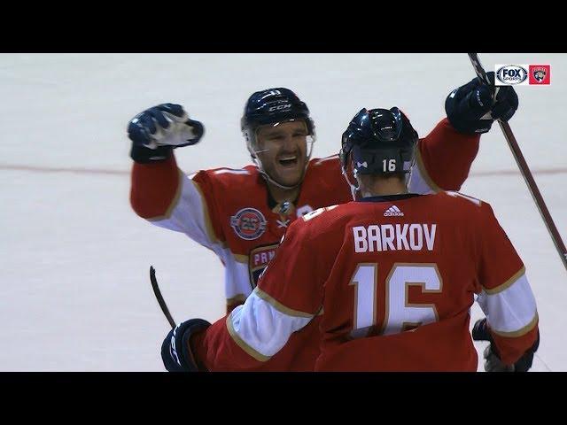 Aleksander Barkov nets backdoor feed for OT win