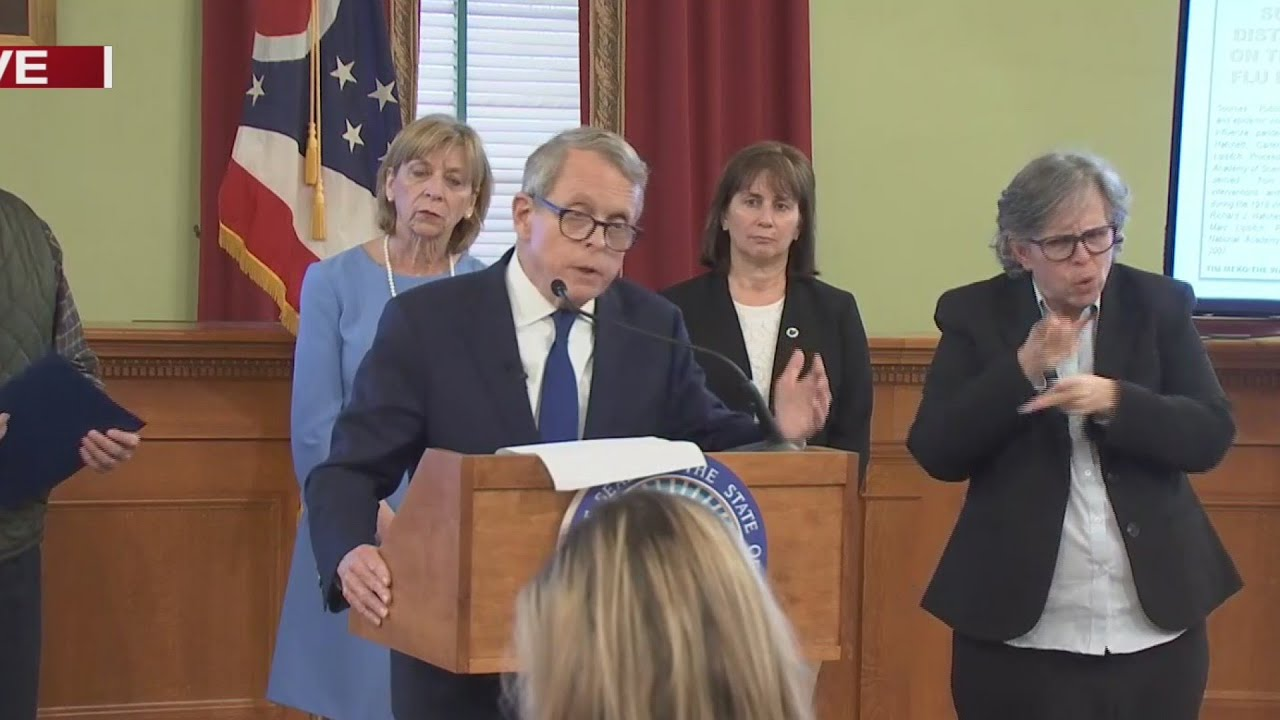 Ohio Gov. Mike DeWine announces statewide stay-at-home order ...