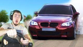 ДАВИДЫЧ ДАЛ ПРОКАТИТЬСЯ НА БМВ М5 Тень - City Car Driving с РУЛЕМ