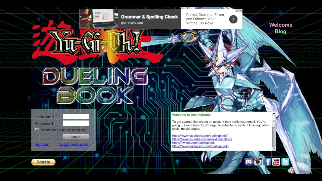 DUELING BOOK IS OUT (However Servers Are Extremely Difficult to Reach  Currently)