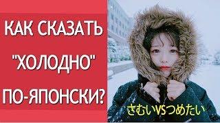 Как сказать холодно по- японски. Изучение японского языка. Разница между さむい и つめたい. Япония и 日本語