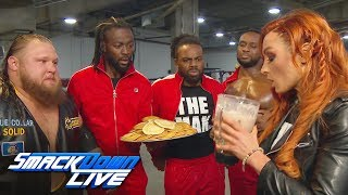 Becky Lynch downs Heavy Machinerys epic protein shake SmackDown LIVE Jan 15 2019 video