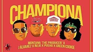 J Alvarez, Ñejo, Pusho, Green Cookie (Ft. Montana The Producer) - Championa thumbnail