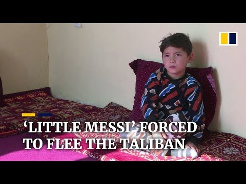 Afghanistan's 'Little Messi' forced to flee the Taliban