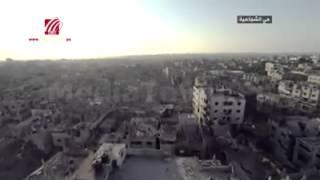 Gaza August 2014 nach der Bombardierung Israels
