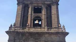 Mexico City Metropolitan Cathedral bells announce the 12:00 noon Angelus