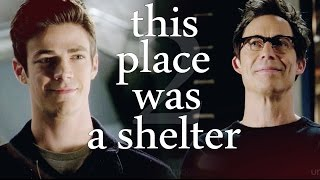 harrison wells & barry allen ▪ this place was a shelter ► the flash
