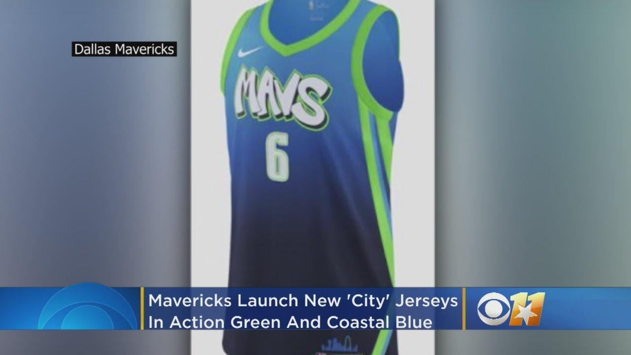 Mavericks Launch New City Jerseys In Action Green And Coastal Blue