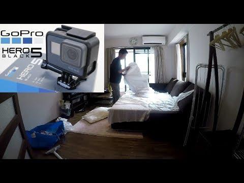 GoProのある現場京都市内でairbnb利用の民泊ゲストハウス施設ベッドメイクサービス 京滋の清掃会社jp
