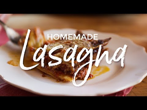 Homemade Lasagna with from Scratch Noodles