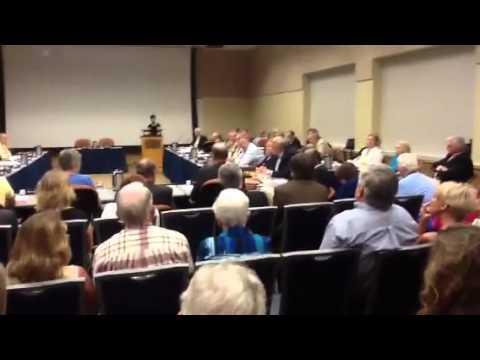 Trustee Eckel addresses Board of Trustees