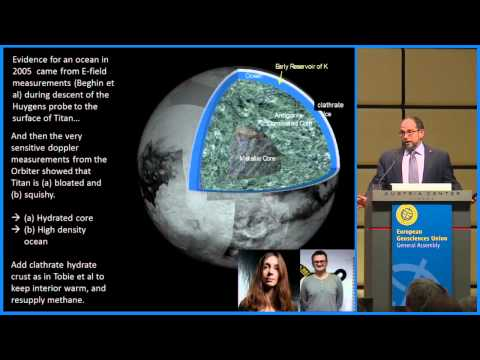 EGU2015: Jean Dominique Cassini Medal Lecture by Jonathan I. Lunine (ML4)