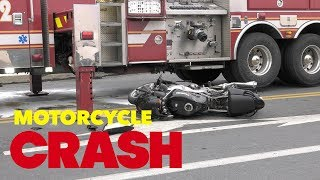 Motorcycle crashes into fire truck in Allentown, Pennsylvania