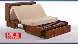 Night & Day Furniture MUR-CLV CH and MND-GMF-TRI-QEN Murphy Cabinet Bed with review