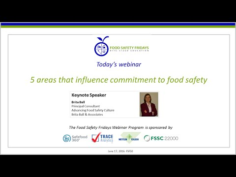 5 Areas that Influence Commitment to Food Safety